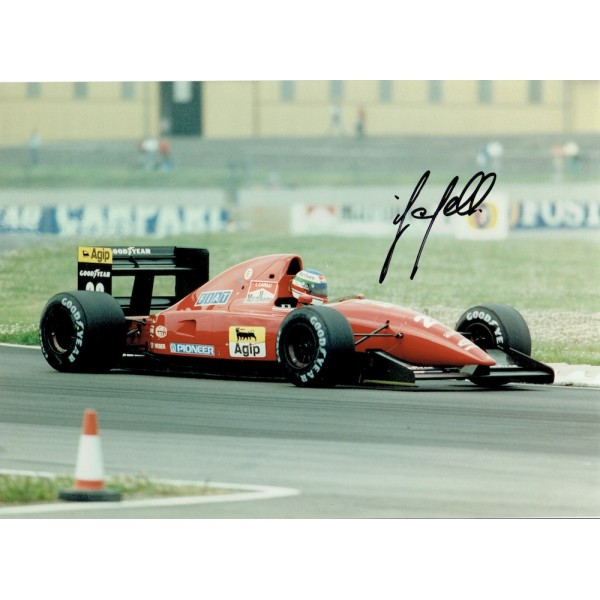 Ivan Capelli signed authentic genuine signature photo