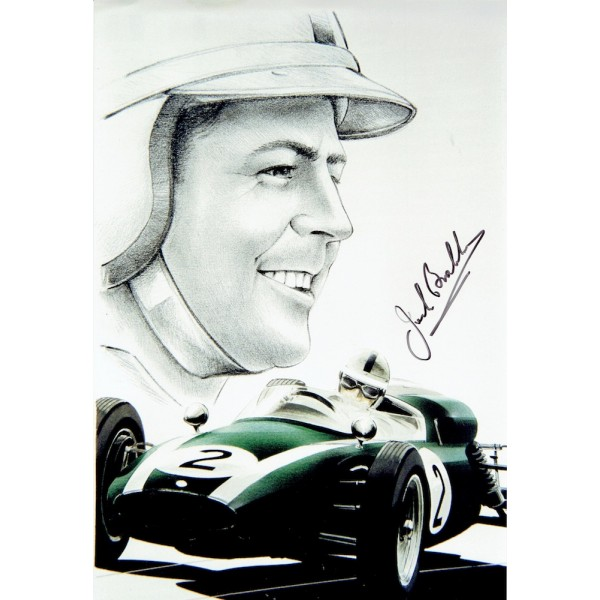 Jack Brabham genuine original authentic signed autograph photo