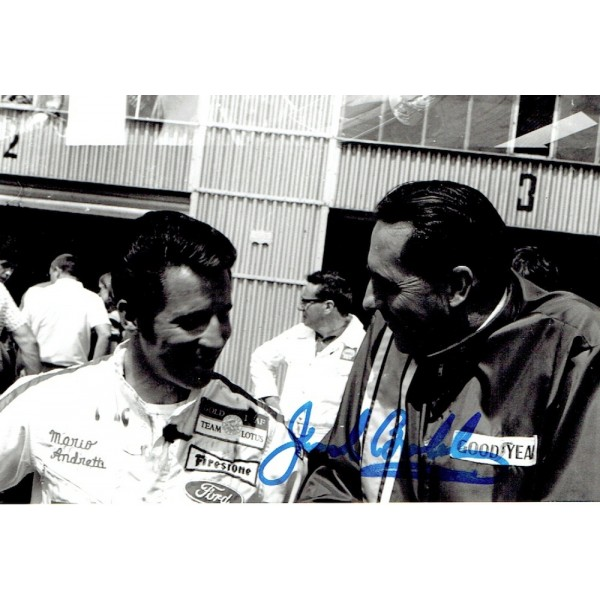 Jack Brabham original authentic genuine signed autograph photo