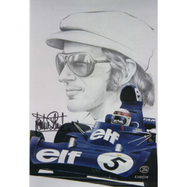 Jackie Stewart  original authentic genuine autograph signed photo