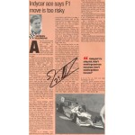 Jacques Villeneuve genuine original authentic signed autograph