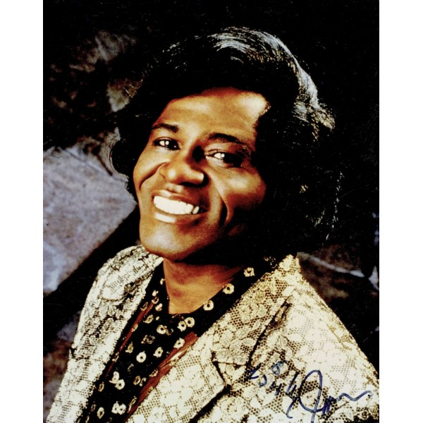 James Brown  original authentic genuine autograph signed photo
