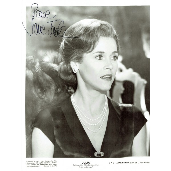 Jane Fonda signed authentic genuine signature