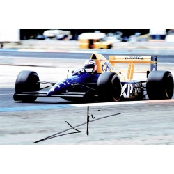 Jean Alesi original authentic genuine signed photo