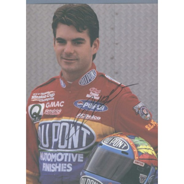 Jeff Gordon original authentic genuine signed autograph