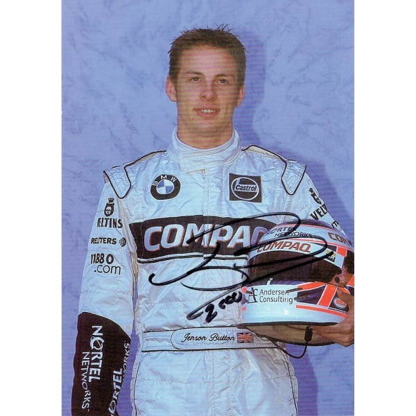 Jenson Button  genuine signed original autograph photo