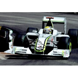 Jenson Button original authentic genuine signed photo