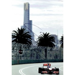 Jenson Button signed authentic genuine signature photo