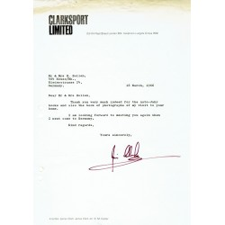 Jim Clark genuine authentic signed autograph signatures