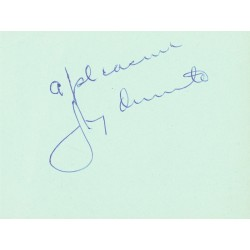 Jimmy Durante  authentic genuine autograph signed