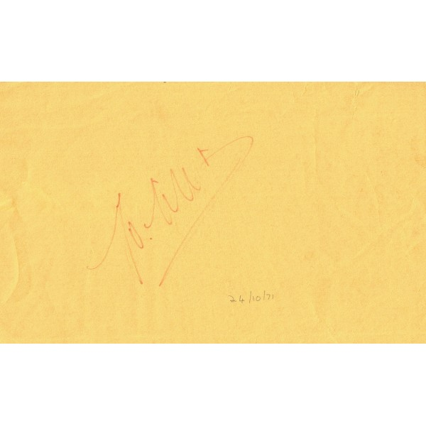 Jo Siffert (Final Day) genuine authentic signed autograph signatures