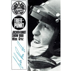 Jochen Rindt genuine authentic signed autograph signatures vintage postcad
