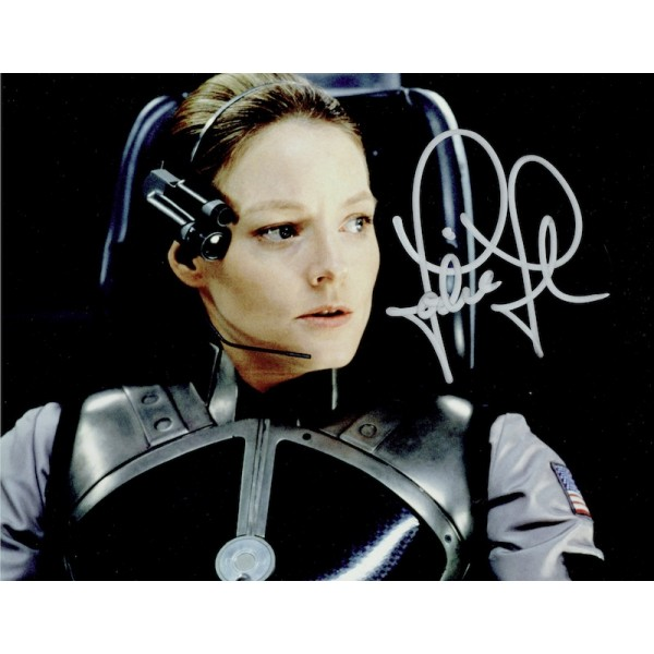 Jodie Foster  original authentic genuine autograph signed photo