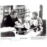 John Candy / Rhea Perlman  authentic genuine autograph signed photo