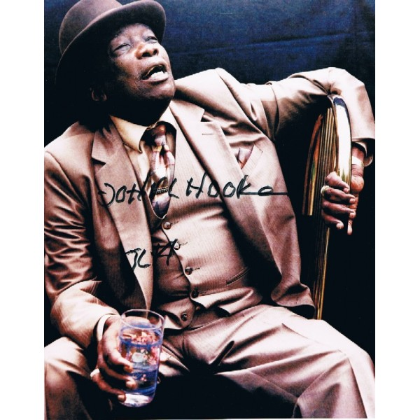 John Lee Hooker original authentic genuine signed photo