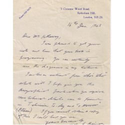 John Logie Baird genuine authentic signed autograph signatures letter