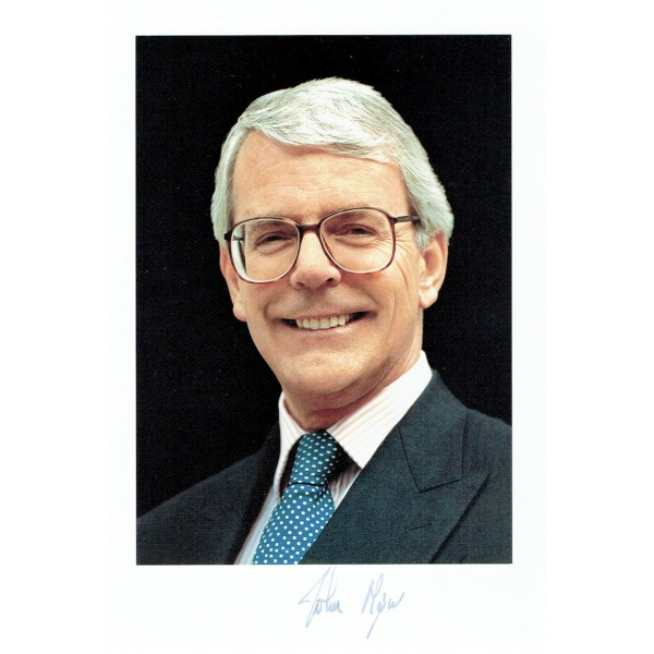 John  Major  original authentic genuine autograph signed photo