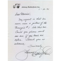 Johnny Rutherford  genuine signed authentic autograph