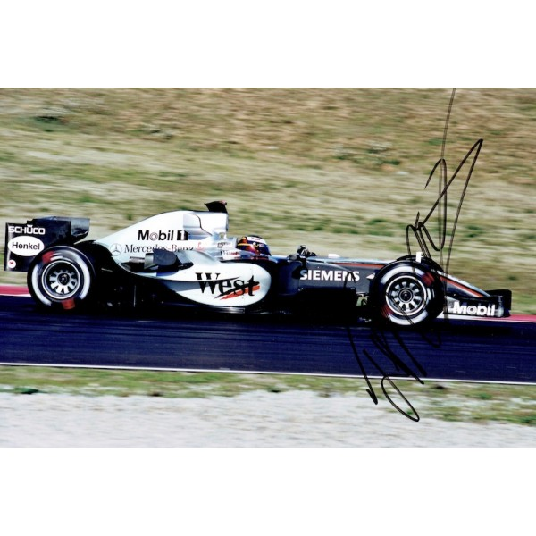 Juan Pablo Montoya original authentic genuine signed photo