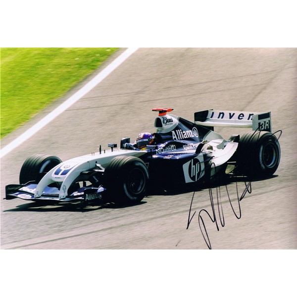 Juan Pablo Montoya signed authentic genuine signature