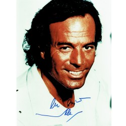 Julio Iglesias  original authentic genuine autograph signed photo