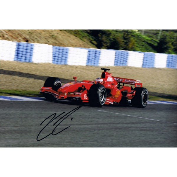 Kimi Raikkonen signed authentic genuine signature