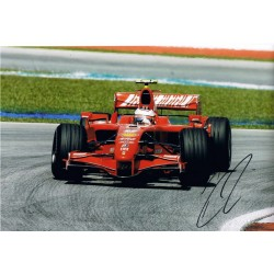 Kimi Raikkonen signed authentic genuine signature photo