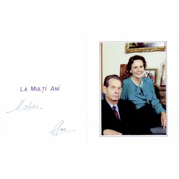 King Michael and Queen Anne  Romania  authentic genuine signed autographs