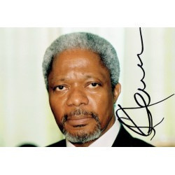 Kofi Annan authentic genuine signed autograph