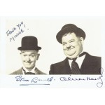Stan Laurel and Oliver Hardy genuine authentic signed autograph signatures