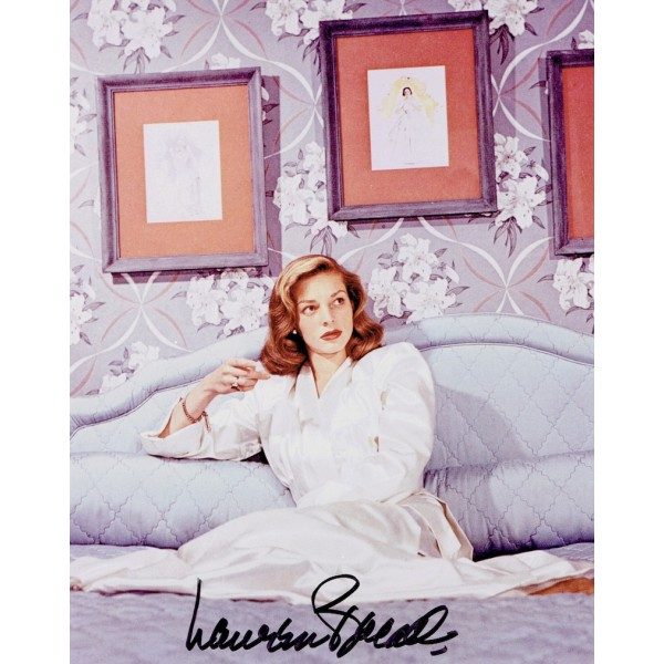 Lauren Bacall  authentic genuine autograph signed photo
