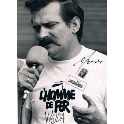 Lech Walesa original authentic genuine signed photo