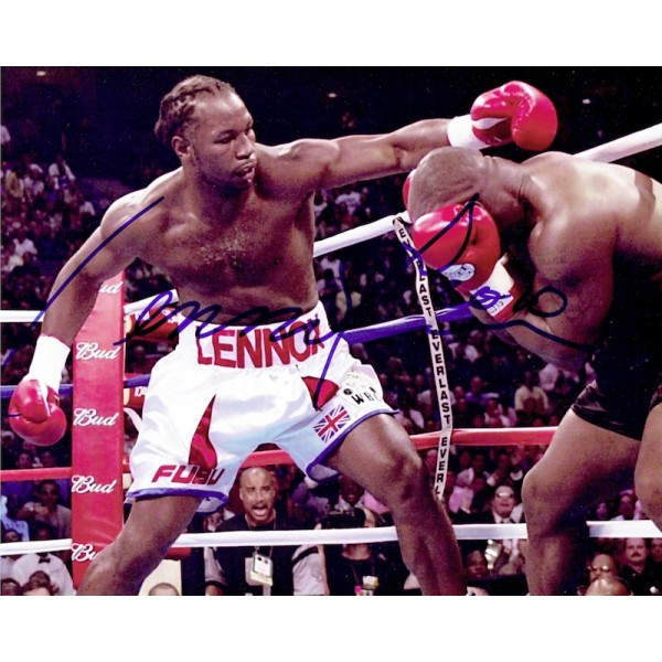Lennox Lewis original authentic genuine signed photo