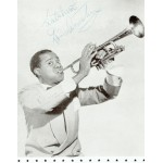 Louis Armstrong Programme genuine authentic signed autograph signatures