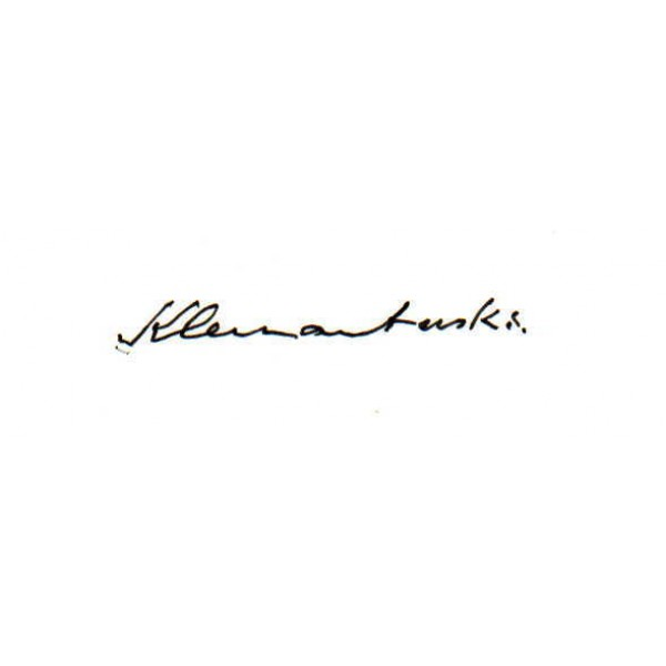 Louis Klemantaski genuine original authentic signed autograph