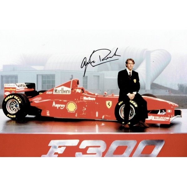 Luca Badoer genuine original authentic signed autograph photo