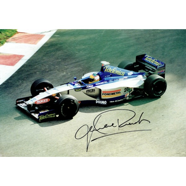 Luca Badoer  original authentic genuine autograph signed photo