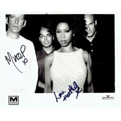 M People  original authentic genuine autograph signed photo