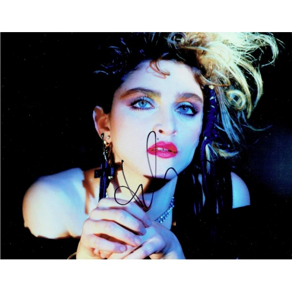 Madonna genuine authentic signed autograph signatures photo