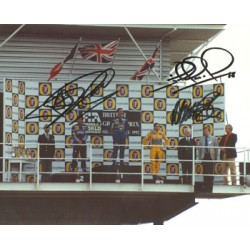 Mansell, Patrese, Brundle genuine original authentic signed autograph photo