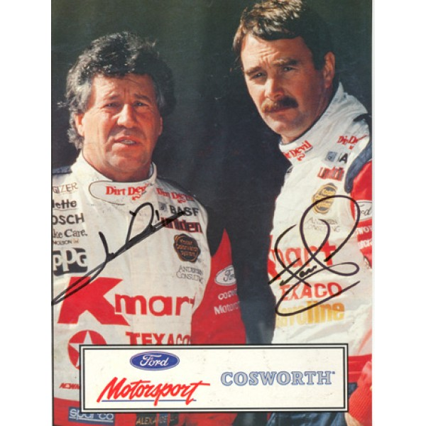 Mario Andretti Nigel Mansell genuine original authentic signed autograph