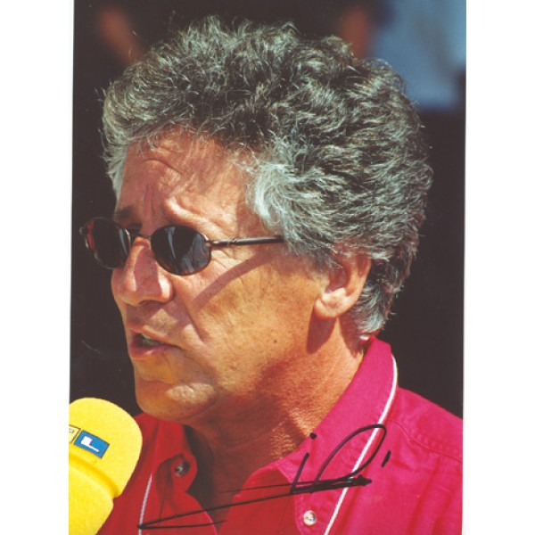Mario Andretti  original authentic genuine autograph signed photo