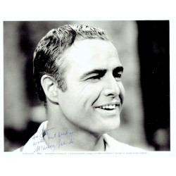 Marlon Brando genuine authentic signed autograph signatures photo