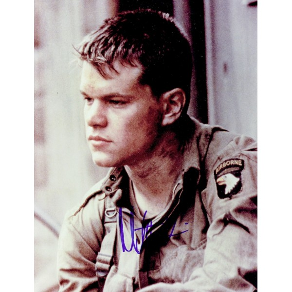 Matt Damon  authentic genuine autograph signed photo