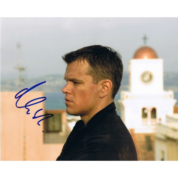Matt Damon signed authentic genuine signature