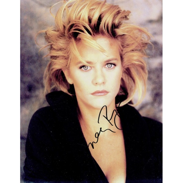 Meg Ryan signed authentic genuine signature