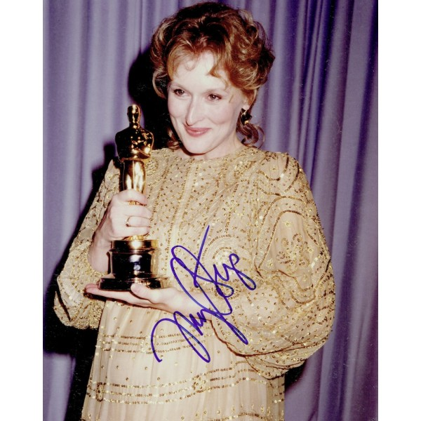 Meryl Streep  authentic genuine autograph signed photo