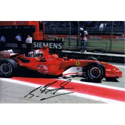Michael Schumacher signed authentic genuine signature