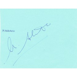 Michele Alboreto genuine original signed autograph