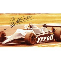 Michele Alboreto original authentic genuine signed photo